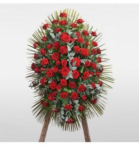 Corona Funebre Rose Rosse