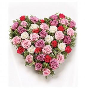 Cuore Funebre Rose Miste